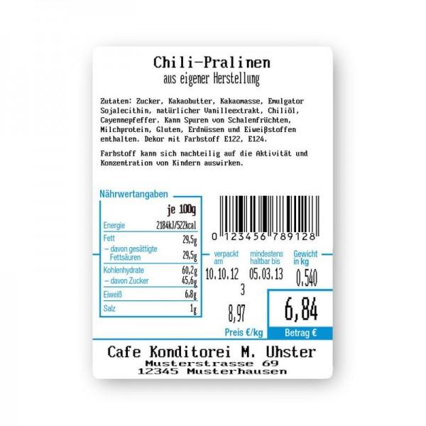 Standard-Etikett Format 03 für Etikettierwaage CL5200N